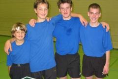 02/03 Jungen U18 I. von links: T. Hufschmidt, B. Hufschmidt, Muszter, Leins