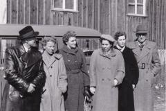 Damen 1 1955. Von links: Hagen (Betreuer), Stryczewski, Krampert, Wienchol, Schon, Fiegler (Betreuer)
