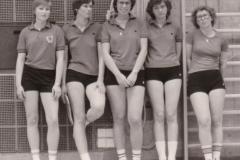 Damen 1 VR 1978/79. Von links: B. Reichelt, Steimer, Deifel, Temesberger, Schick