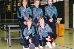 Damen 1 1996/97. hinten von links: A. Vogt, A. Zeiselmeier, E. del Campo; vorne von links: A. Langendorf, R. Brettner
