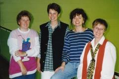 Damen 2 1997/98. von links: I. Schick, S. Kautzsch, R. Kaschuba, C. Fischer