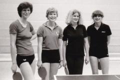 Damen VR 1982/83. Von links: Steimer, B. Reichelt, Wolgemuth, Temesberger