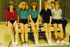 Damen VR 1983/84. Von links: Steimer, Wohlgemuth, Kaschuba, B. Reichelt, Haßlmeyer, Haag