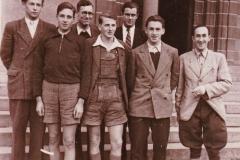 Herren 1 1948. Von links: Kizans, Nicolai, Fiegler, J. Draheim, Abelite, Fackler, Oettinger