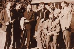 Herren 1 1955. Von links: Rodewald, Fiegler, Grimm, Ohnmacht, C. Draheim, Kerber, J. Draheim