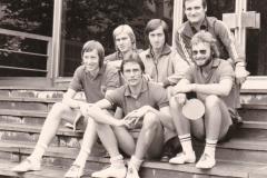 Herren 1 VR 1975/76. Von links: P. Müller, Hübner, Heldt, Emminger, Kaldonek, Spreter