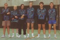 Herren 1 1997/98. von links: S. Butschek, M. Schwarz, W. Bacher, P. Müller, H. Lehnert, M. Becker