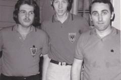 Herren 1 Pokal 1971. Von links: Friedrich, P. Müller, Kreißl