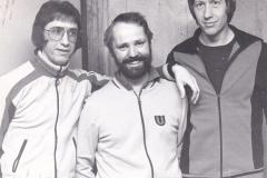 Herren 1 Pokal 1979/80. Von links: Bacher, Klugmann, P. Müller