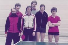 Herren 1 RR 1982/83. Von links: Klugmann, Schote, Bacher, Hölle, P. Müller, Koch