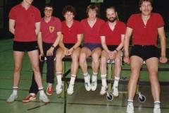 Herren 1 RR 1982/83. Von links: Schote, Bacher, Koch, P. Müller, Klugmann, Hölle