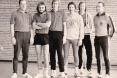 Herren 1 RR 1974/75. Von links: Deifel, Spreter, Hübner, Heldt, P. Müller, Grimm