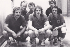 Herren 1 VR 1983/84. Von links: Wöhrle, Wehrmann, P. Müller, Regele, Schote, Bacher