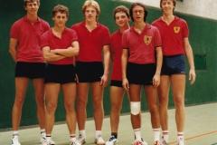 Herren 1 VR 1984/85. Von links: Schote, Koch, Regele, Andi Wehrmann, Bacher, P. Müller