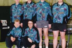 Herren 1 1996/97. hinten von links: M. Becker, M. Rottler, P. Müller, H. Lehnert; vorne von links: M. Schwarz, W. Bacher