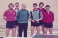 Herren 2 1982/83. Von links: Spreter, Klemm, Deifel, Heldt, Mahler, Kaschuba