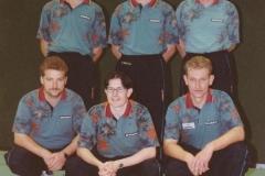 Herren 2 1997/98. hinten von links: T. Lehmann, N. Zeiselmeier, P. Ermisch; vorne von links: A. Wehrmann, M. Schmider, M. Wrobel