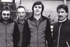Herren 2 Pokal 1980/81. Von links: Spreter, Wehrmann, Mahler, Heldt