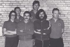 Herren 2 VR 1976/77. Von links: Bacher, Krieg, Gerstner, Hölle, Mutscheller, Wehrmann