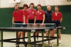 Herren 2 VR 1984/85. Von links: Spreter, Hense, Mahler, Heldt, Wehrmann, Kaschuba