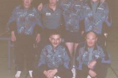 Herren 3 1996/97. hinten von links: E. Müller, M. Wrobel, G. Zeiselmeier, I. Kaldonek; vorne von links: P. Gerstner, A. Franz