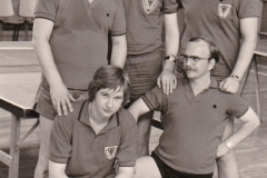 Herren 3 VR 1975/76. Von links: G. Zeiselmeier, F. Reichelt, Mahler, Krüger, Trampenau