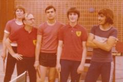 Herren 4 RR 1980/81. Von links: Rimp, Krüger, Ruiz, Daiber, Vogler