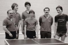 Herren 4 VR 1982/83. Von links: Krüger, Ober, Rottler, Frey, Gerstner, Kraft