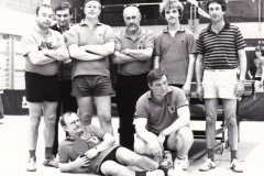 Herren 4 VR 1983/84. Hinten von links: Grimm, Kaldonek, Krieg, Effinger, Ober, Pfriender; vorne von links: Krüger, Trampenau