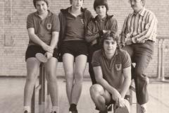 Jungen 1 VR 1977/78. Von links: T. Huber, Klemm, Daiber, Bubser, Betreuer Krüger