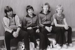 Jungen 1 VR 1978/79. Von links: Huber, Daiber, Rieble, Wrobel