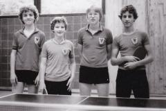 Jungen 2 1979/80. Von links: Ober, Wehrmann, Erath, Koch