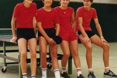 Jungen 2 VR 1984/85. Von links: Becker, Böltau, Dold, Rosenberger