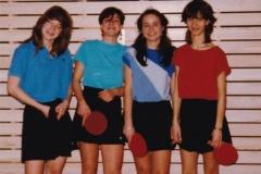 Maedchen RR 1983/84. Von links: Dieterle, Weber, Gilot, Kuon