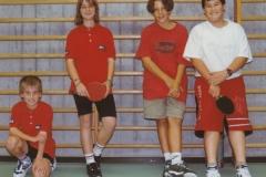 Schüler 1 1997/98. von links: C. Leins, M. Penka, T. Rützel, K. Hirt