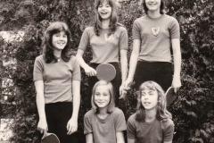 Schülerinnen/Mädchen VR 1977/78. Hinten von links: Kirsch, John, Grimm; vorne von links: Lipke, Breidbach