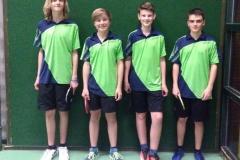 VR 16/17 Jungen U18 III. von links: L. Müller, N. Speckhardt, L. Bauer, D. Mattes