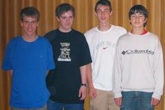 03/04 Jungen U18 I. von links: Leins, S. Reichelt, Zielke, Bach